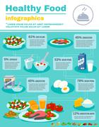Healthy Food Infographics - stock illustration