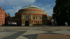 The Albert Hall in London in 4K - low angle track Stock Footage