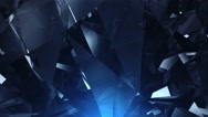 Stock Video Footage of Blue diamond looped background