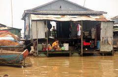 Stock Photo of Tonle Sap lake