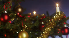 Dollar bill hanging in a Christmas tree. Stock Footage