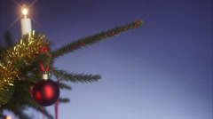 Money hanging in a Christmas tree. - stock footage