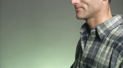 Portrait of a smiling man. Stock Footage