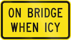 On Bridge When Icy in Australia - stock illustration
