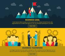 Leadership and business banners set Stock Illustration
