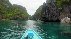 Stock Video Footage of Bacuit Archipelago around El Nido