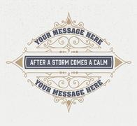 vintage logo template, Hotel, Restaurant, Business or Boutique Identity. Desi - stock illustration