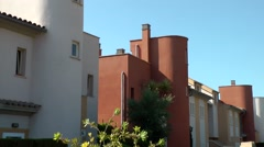 Spain Mallorca Island Cala Blava 031 colorful spanish real estate Stock Footage