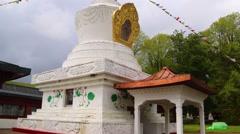 Kagyu Samye Ling Monastery and Tibetan Centre -Stupa Stock Footage