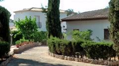 Spain Mallorca Island Cala Blava 036 driveway of a spanish estate Stock Footage