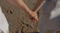 Young people touch hands of each other Stock Footage