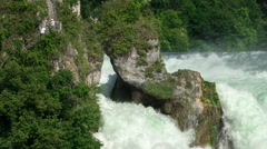 Closeup view of the Rhine Falls Stock Footage