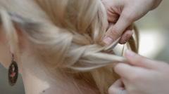 Weaving braids - stock footage
