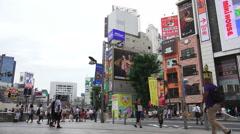 Busy City Streets Of Shinjuku Tokyo Stock Footage