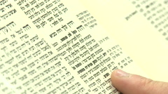 Jewish religious study of the talmud Stock Footage