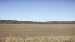 A bare field, Sweden. Stock Footage