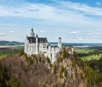 Famous Bavarian landmark - Neuschwanstein Castle (Schloss Neuschwanstein). Ba - stock photo