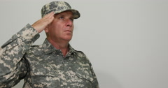 Soldier Man Salute Brave Serve United States Peace Security Forces At Digital Stock Footage