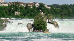 View of the Rhine Falls in Switzerland Stock Footage