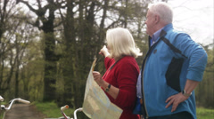 Senior couple lost on a tandem, Sweden. Stock Footage