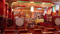 Kagyu Samye Ling Monastery and Tibetan Centre - puja Stock Footage