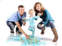 Family cake smash Stock Photos