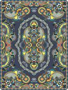 Stock Illustration of elaborate original floral large area carpet design