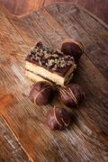 Delicious chocolate desserts - stock photo