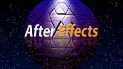 After effects (pixel globe background) Stock After Effects