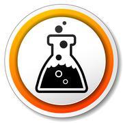 Stock Illustration of chemistry orange icon