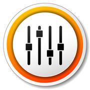 adjustment orange icon - stock illustration
