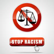 Stop racism sign Stock Illustration