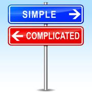 simple or complicated choice - stock illustration