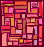 Liquid rectangle and square shapes in red pink orange Stock Illustration
