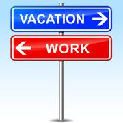 Vacation or work choice Stock Illustration