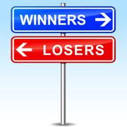 winners or losers choice - stock illustration