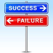 Success or failure choice Stock Illustration