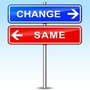 change sign - stock illustration