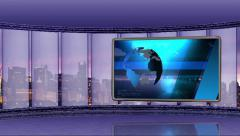 News TV Studio Set 90 - Virtual Green Screen Background Loop Stock Footage