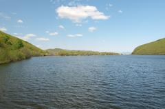 Schuchie Lake or Pike Lake Rudnaya Pristan Primorsky Krai Russia Europe - stock photo