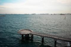 Marina Barrage of Singapore - stock photo