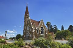 Protestant Church of Christ 1896 Windhoek Namibia Africa Stock Photos