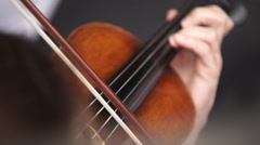 violin playing close up - stock footage