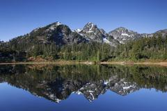 Picture Lake in the Northern Cascades Cascade Range Rockport Washington United - stock photo