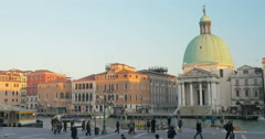 Timelapse of city life in Venice, Italy Stock Footage