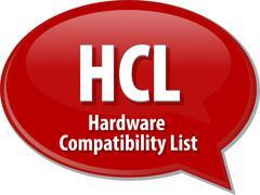 HCL acronym definition speech bubble illustration - stock illustration
