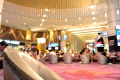 Blur of Defocus Background of People Waiting in Movie or Cinema Complex Loung Kuvituskuvat