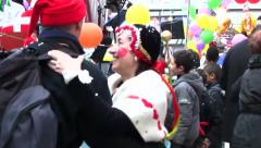 Chambery, France Carnival (with sound) Stock Footage