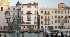 Scenic view of Venice with its canals and old houses Stock Footage