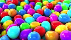 Colorful Balloons,Party Video transition Background - stock footage